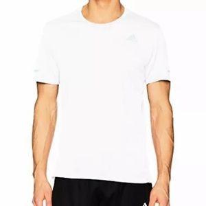 Adidas Mens Run Tee Size XL Xtra Large White